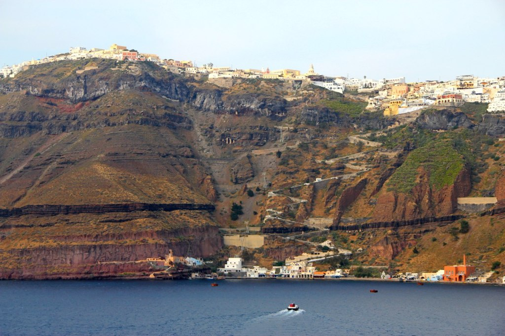 Admiring Fira city from far