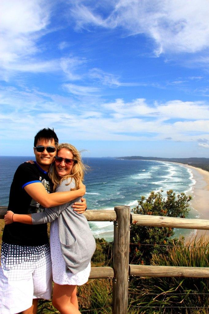 With Tegan (Aussie) in Australia