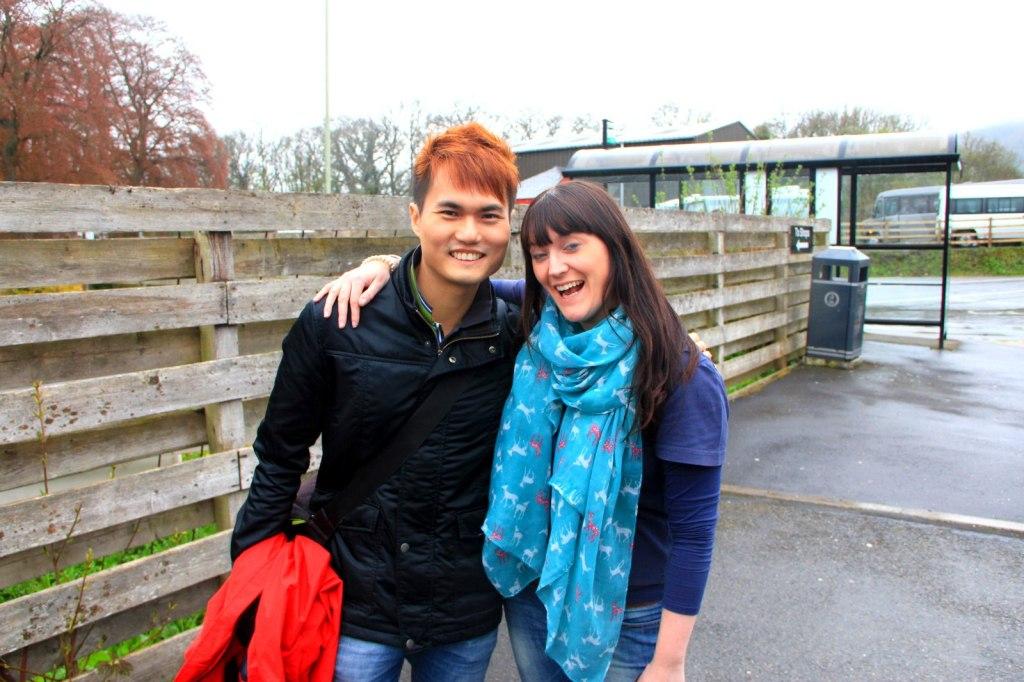 With Audrey (Scottish) in Scotland