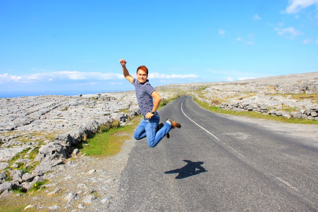 KJS at the Burren Lunar Landscape