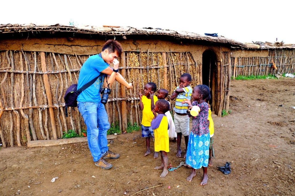 Working my childhood magic with the beautiful African kids
