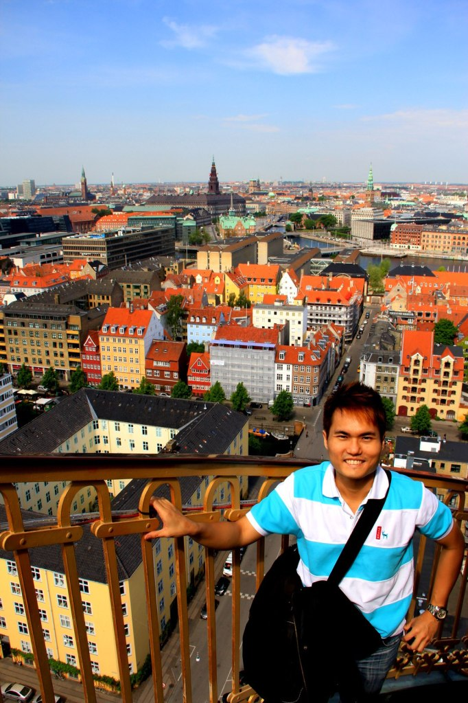 On top of Church of Our Saviour, Copenhagen