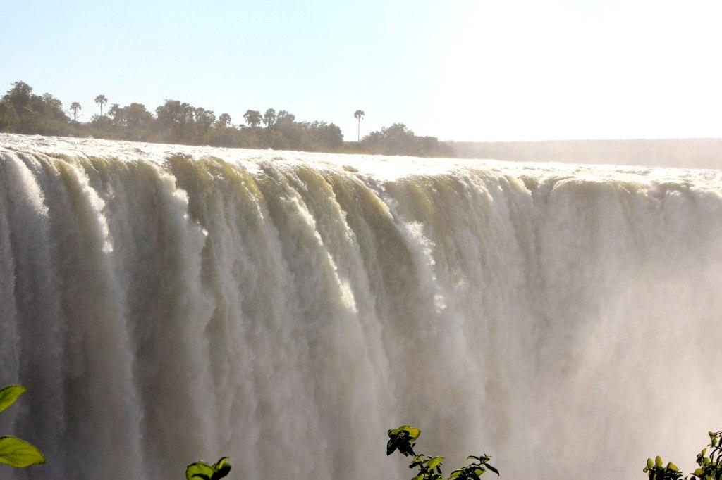 Massive water fall