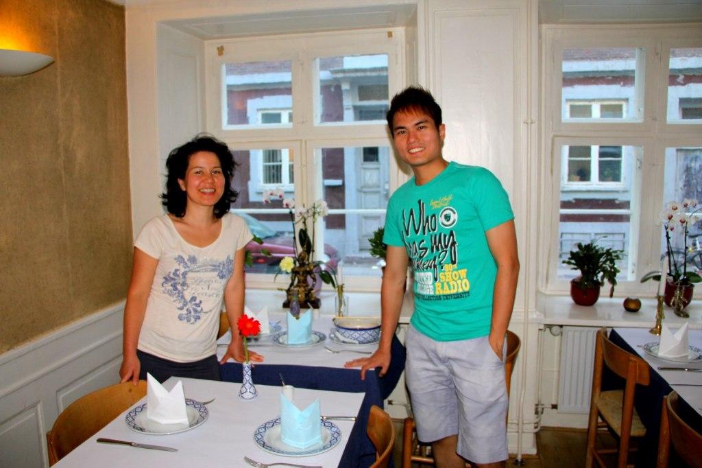 With Nafas Jan, lady boss of Sithep Thai Restaurant Copenhagen