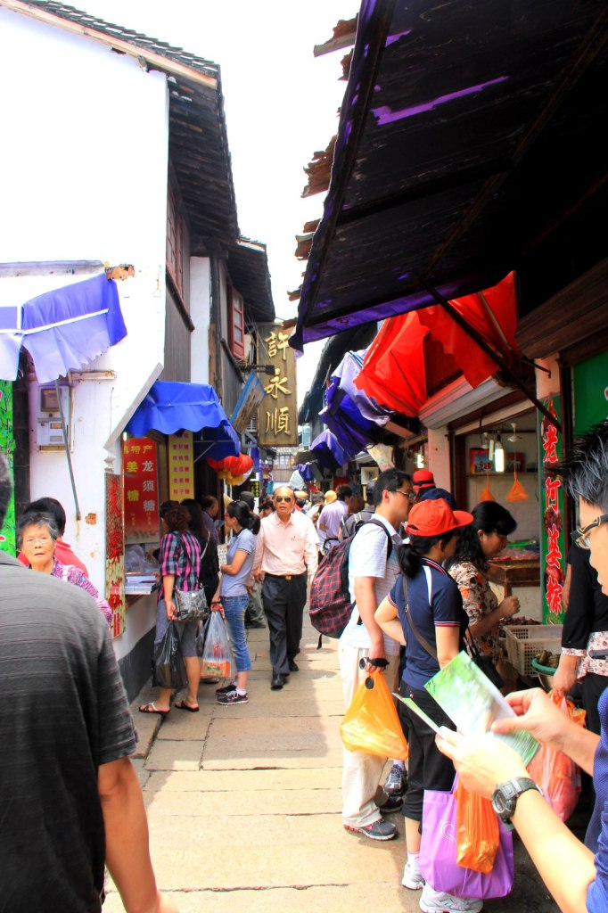 Busy street to lure you into their shops