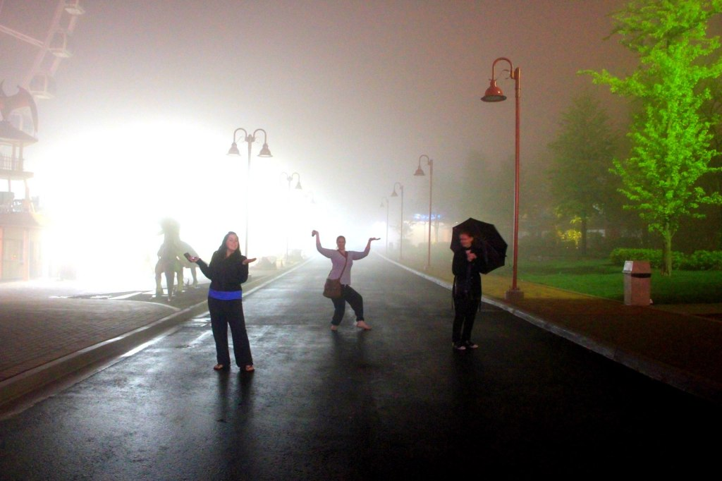 Instead of being afraid, we decided to play in the mist