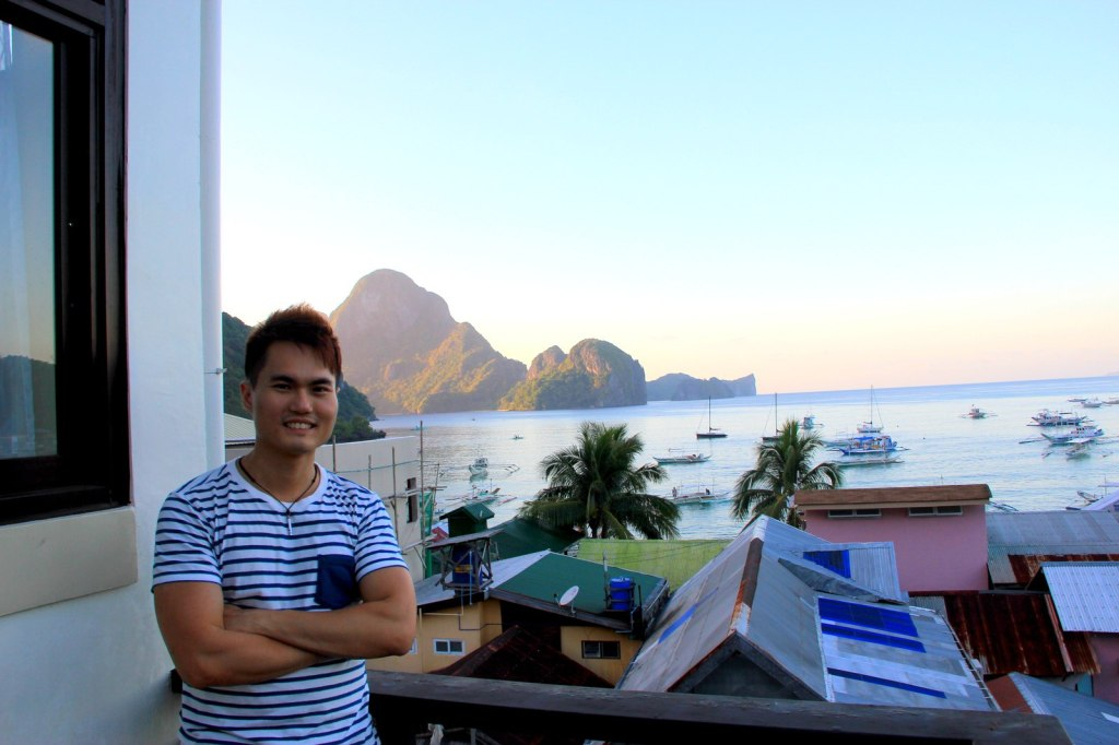 At the resort in El Nido, Philippines