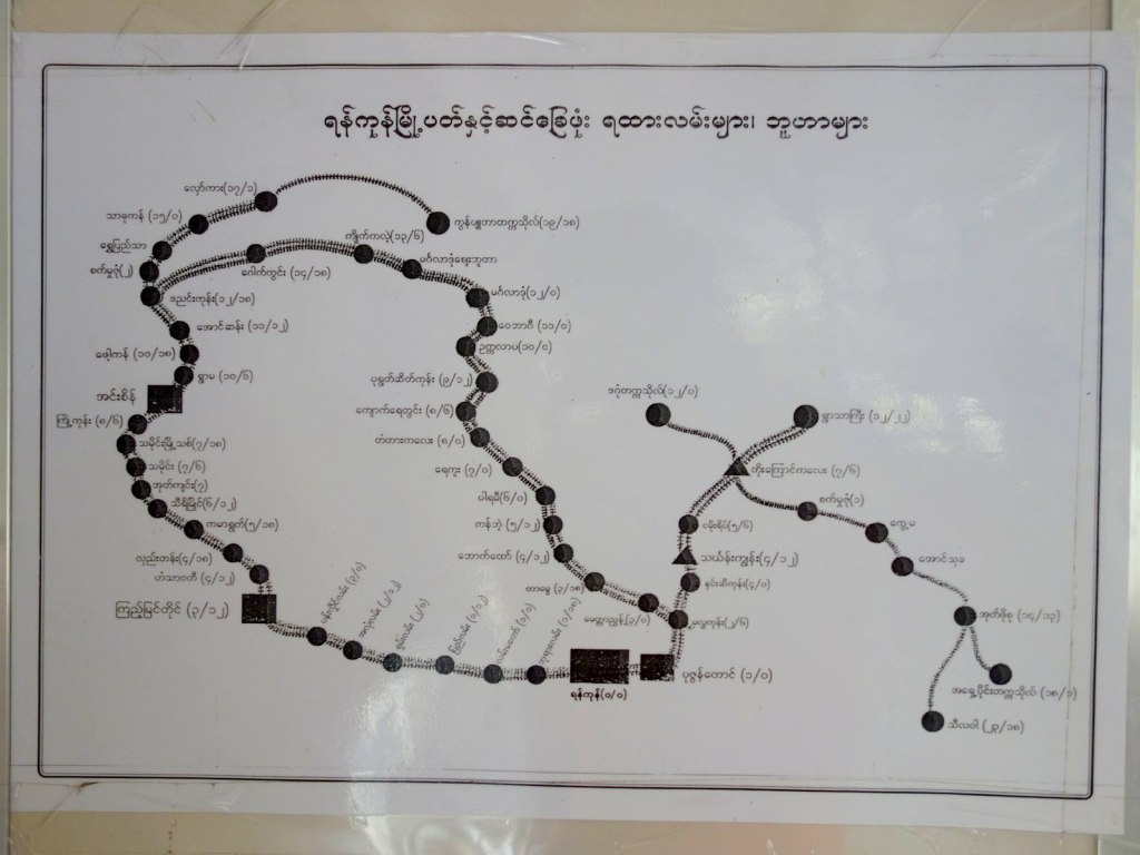 Yangon Circular Train Station Loop