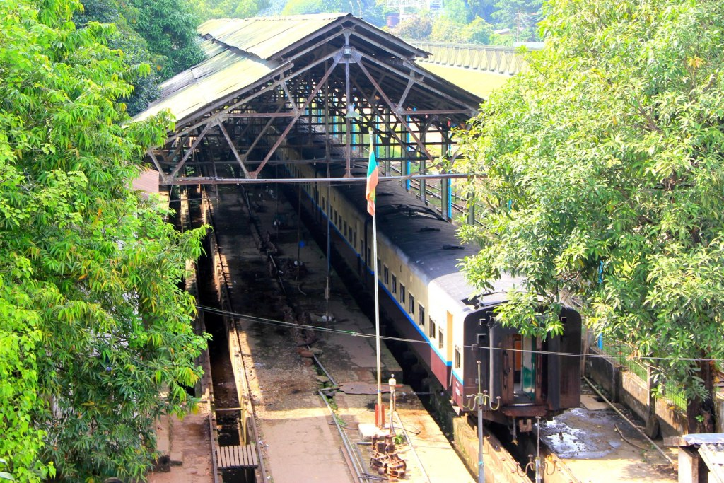 Typical Burmese train station
