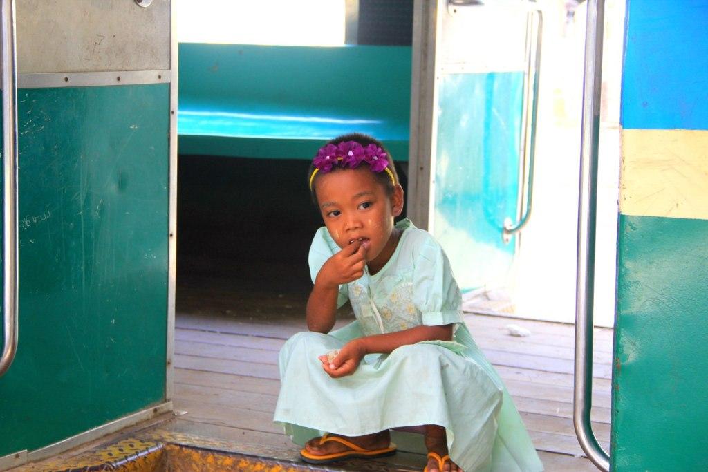 The beautiful Burmese child