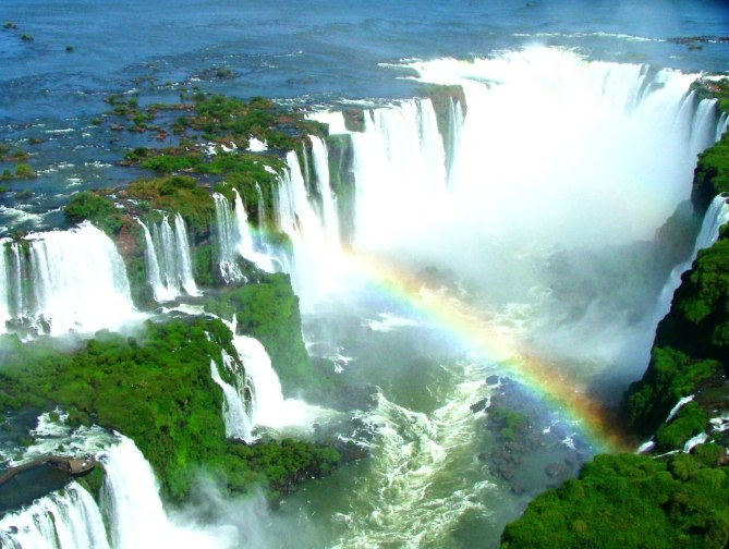 Iguazu Fall from Helicopter Ride
