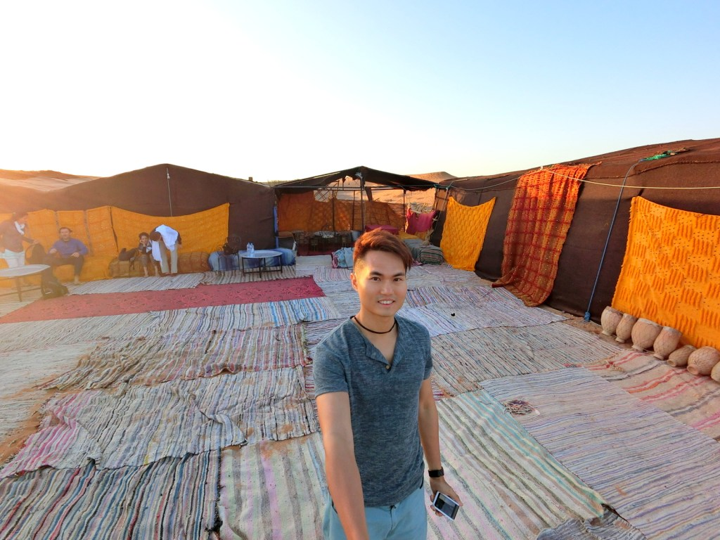 My overnight campsite in the middle of Sahara Desert! :-)