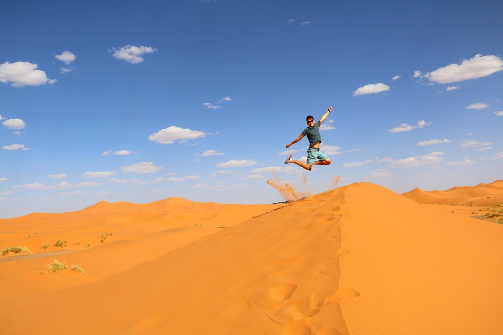 I'm FINALLY here!!! My signature jump shot KJS @ Great Sahara Desert!