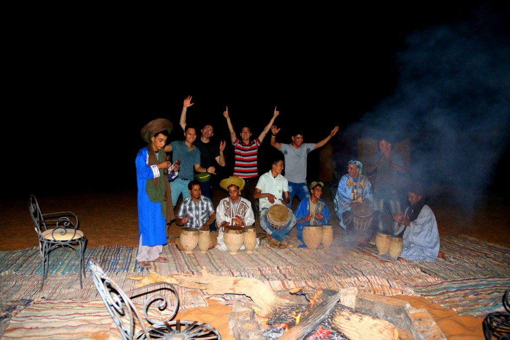 The Berber dance and drum party! :-)