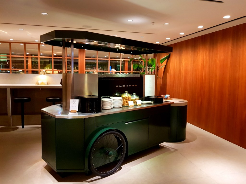 Cathay Pacific Business Class Lounge The Pier Coffee Cart