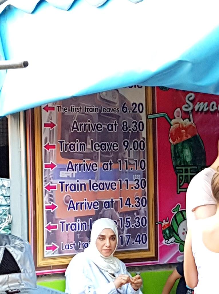 MaeKlong Railway Market Train Timing