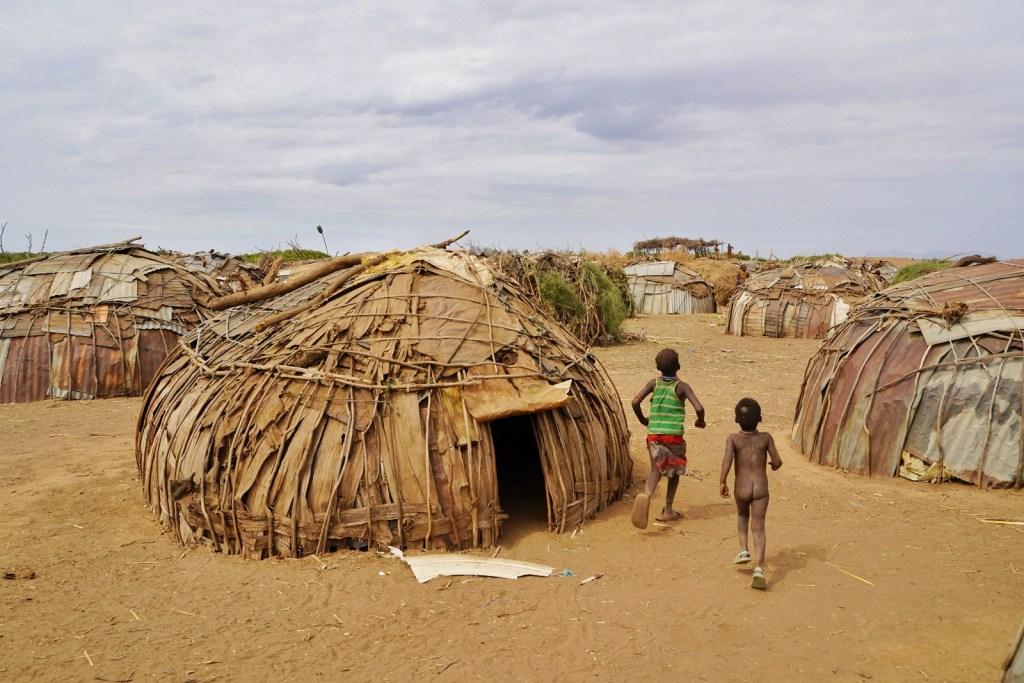 Dassanech tribe houses