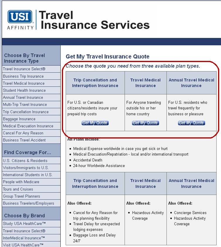 Canada Travel Insurance Quotes