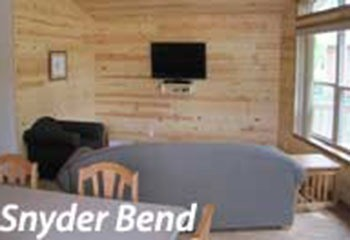 smallest sleeper sofa raymour and flanigan leather beds snyder bend park cabins - salix, iowa | travel # ...