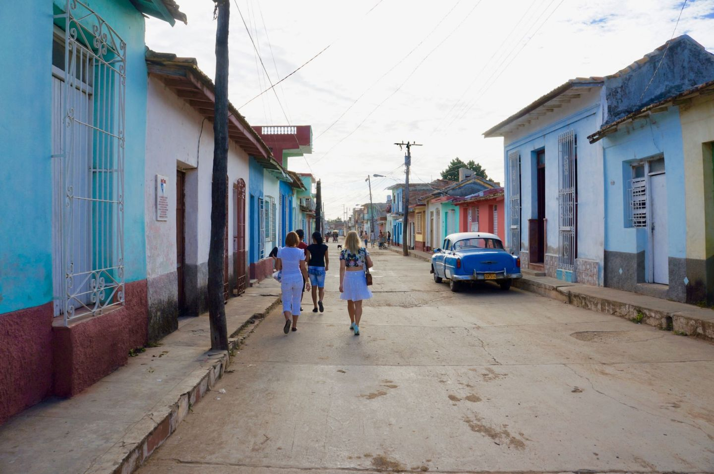 Colourful streets of Colonial Trinidad.