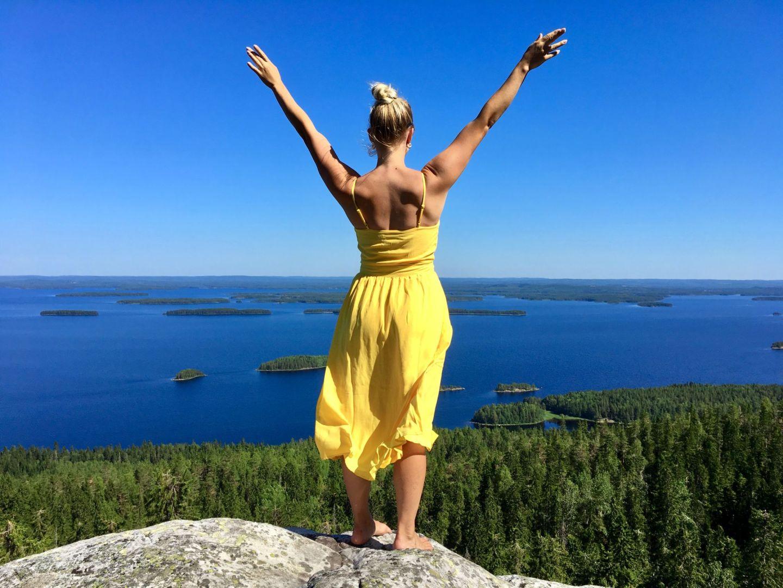Picture of Travel Jael enjoying the amazing scenery of Koli in North Karelia in Finland.