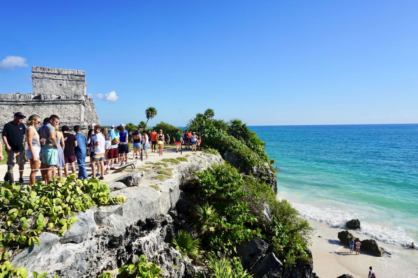 Tulum Ruins is crowded but worth the visit