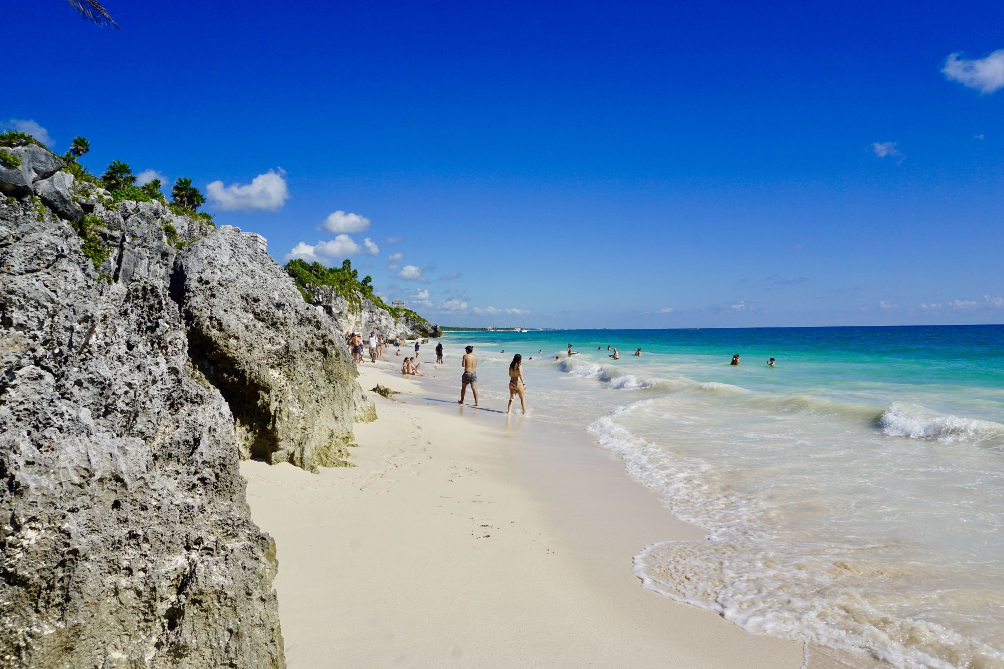 The Beach by the Tulum Ruins is Beautiful