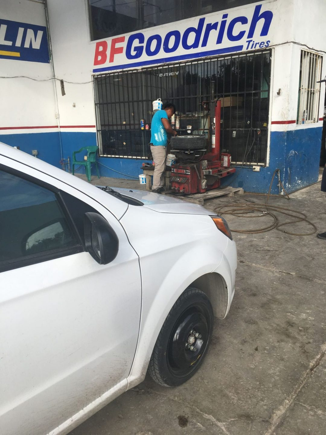 Getting a flat tire in Mexico