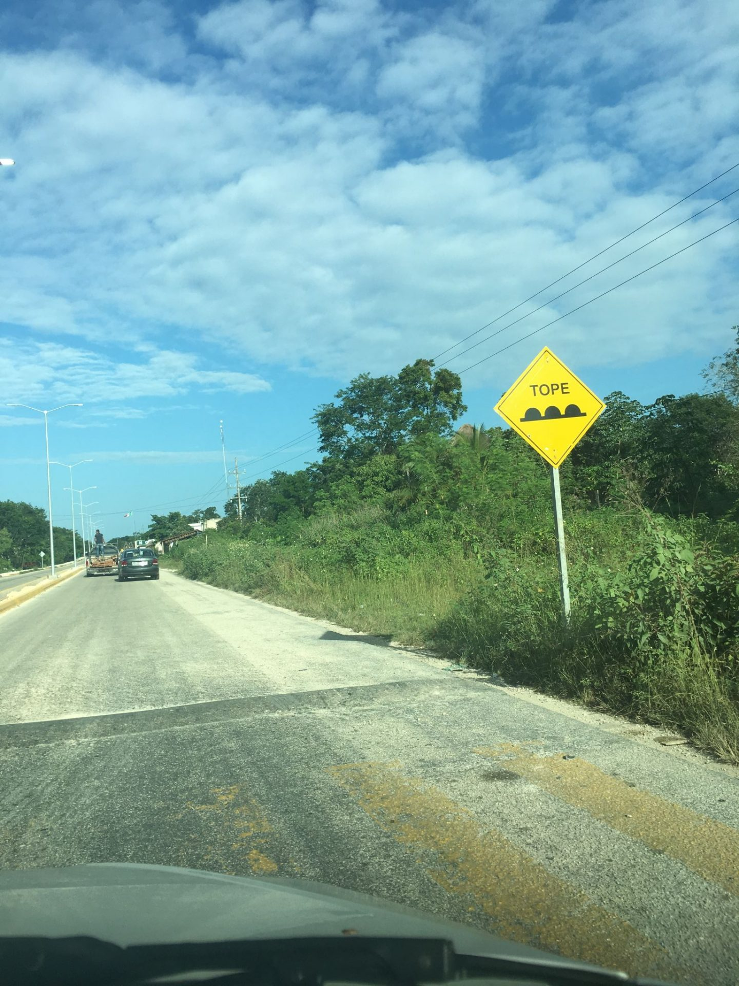 Watch out for speed bumps while driving in Mexico