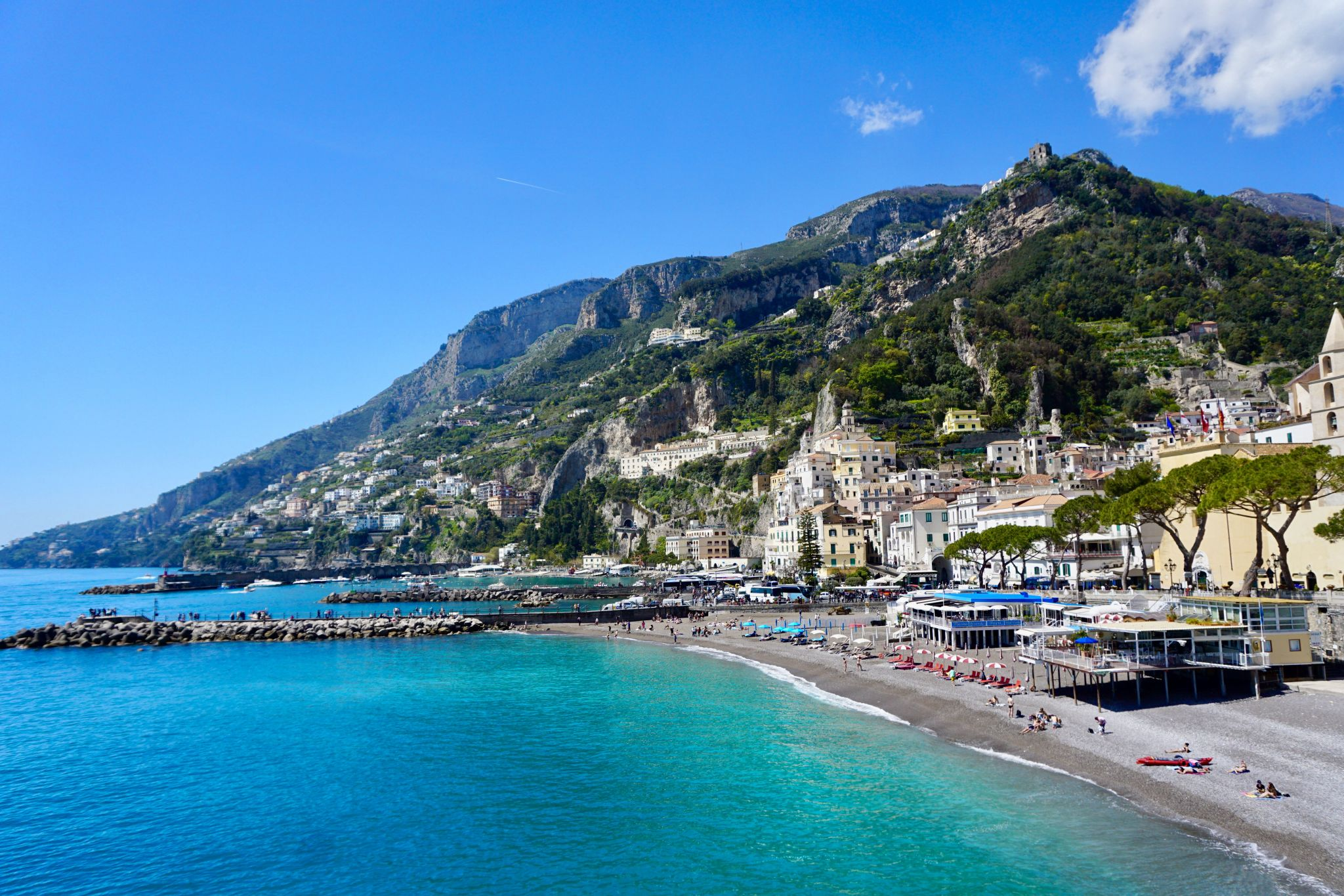 The Amalfi coast is beautiful