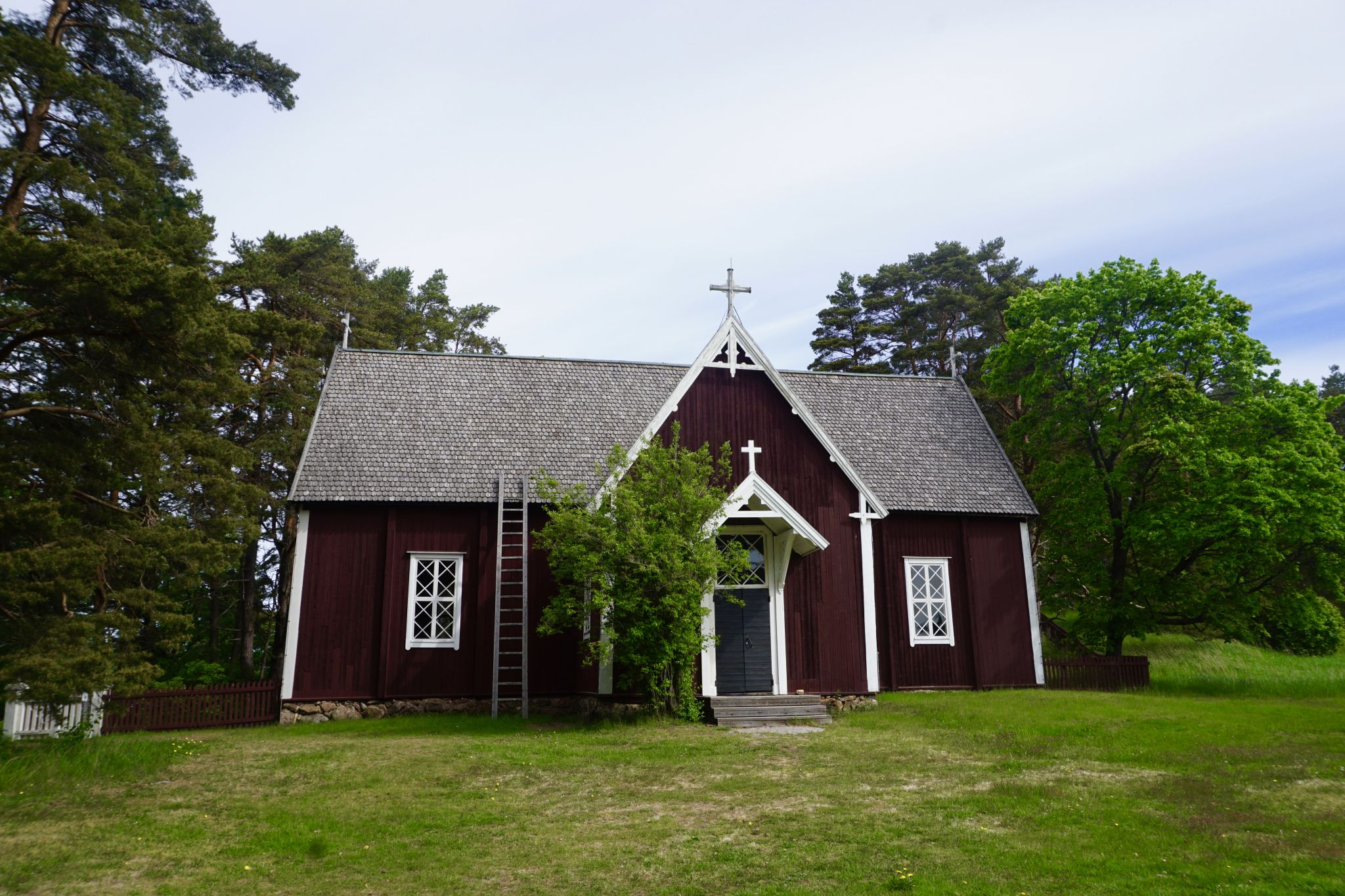 Wooden church on the island of Seili