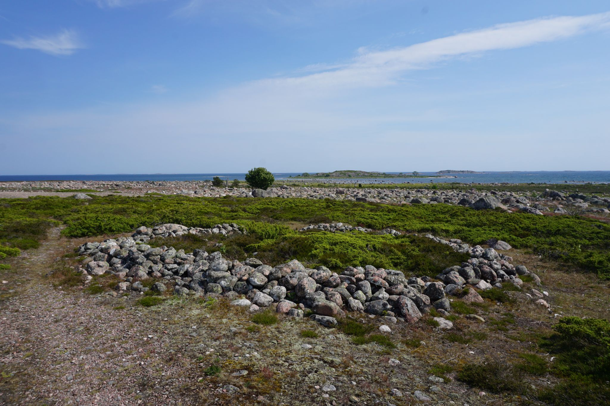 Archaeological remains on the island of Jurmo in Finland