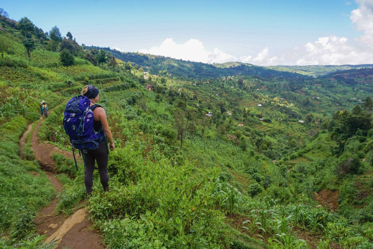 Travel Jael hiking in the Usambara Mountains in Tanzania