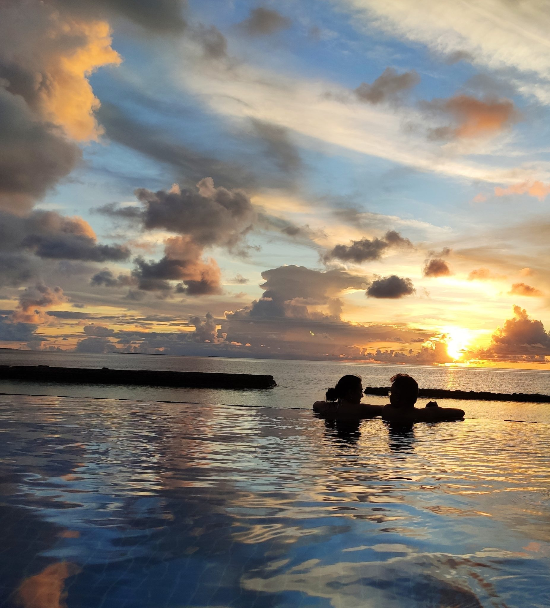 Sunset from the resort in Maldives
