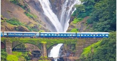 Dudhsagar Falls, Mollem National Park, Spice Plantation, Dudhsagar Fall, दूधसागर रेलवे स्टेशन, dudhsagar information in hindi, Travel Places in Goa