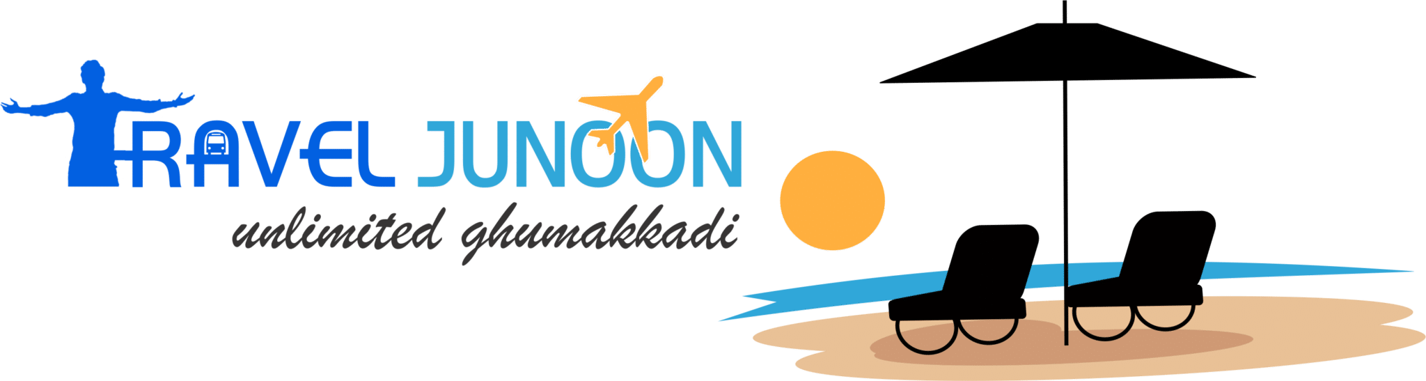Travel Junoon Website Logo - Travel Website in Hindi Language