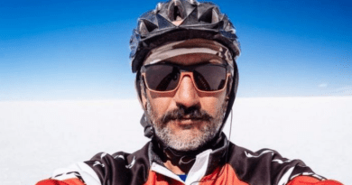 kamran on bike a person traveling 50 thousand kilometers by bicycle?