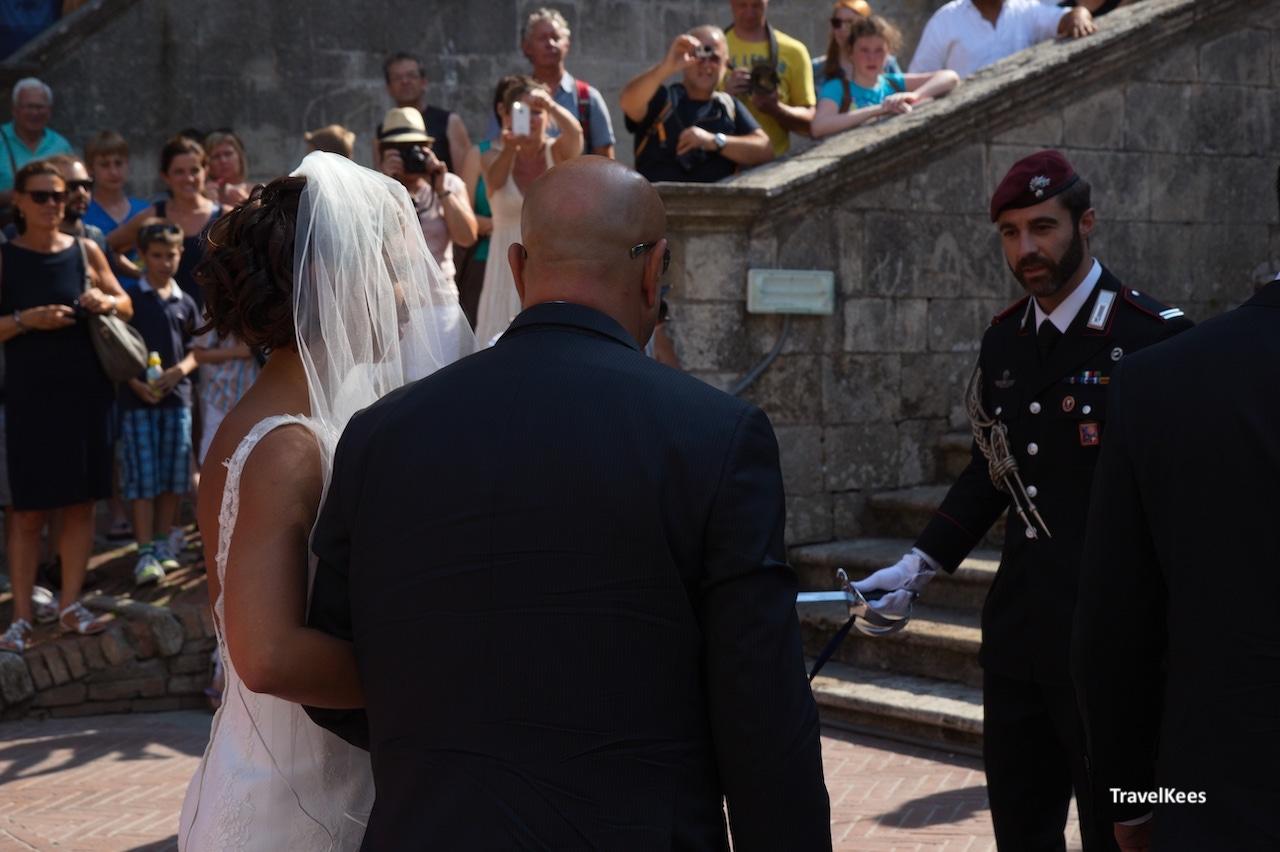 toscaanse bruiloft, san gimignano