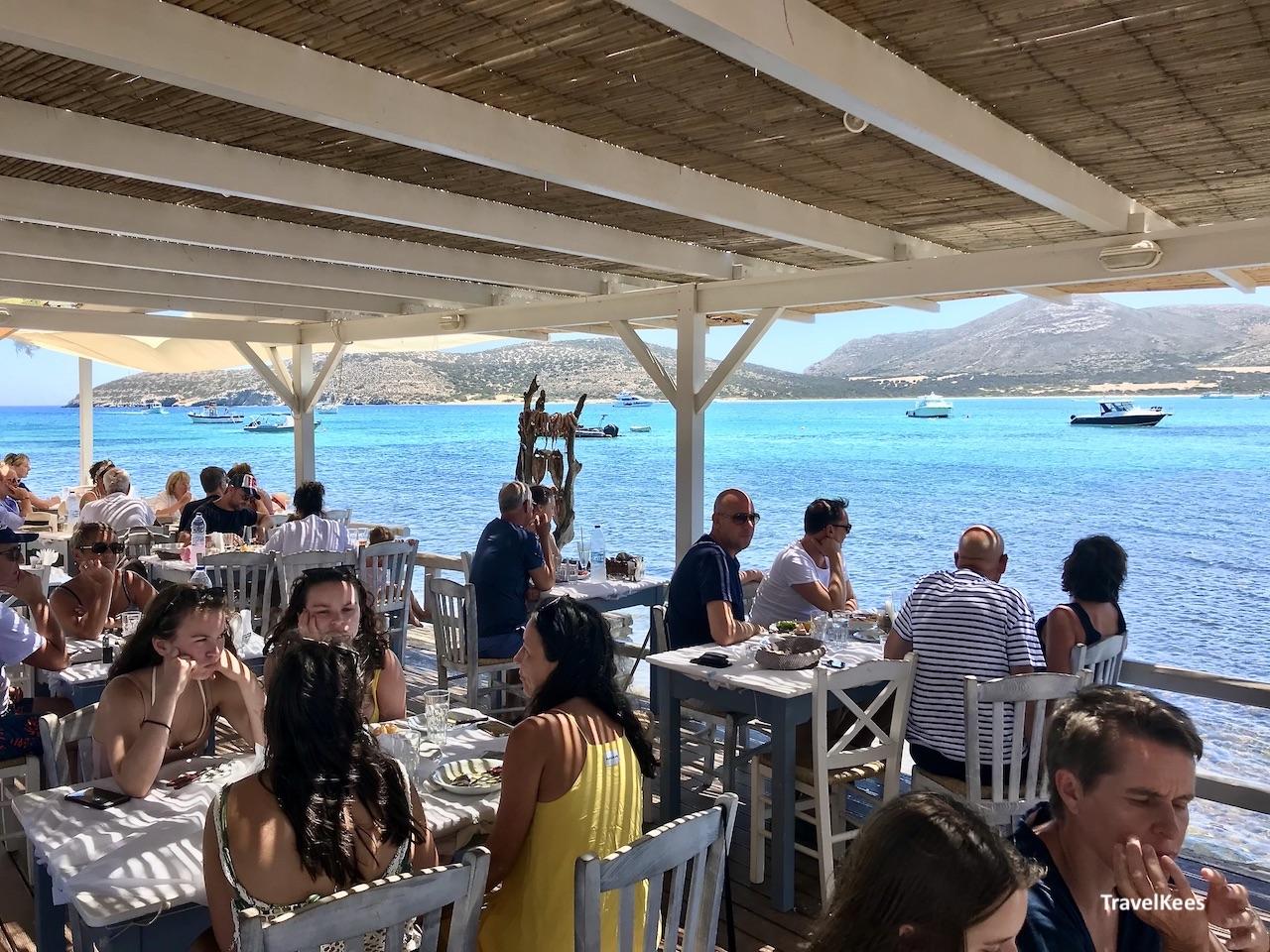 restaurant aan het water, Antiparos
