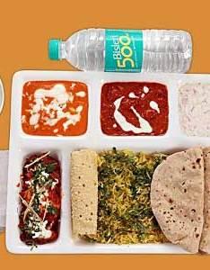 Food also indian railways menu meals in train irctc rh travelkhana