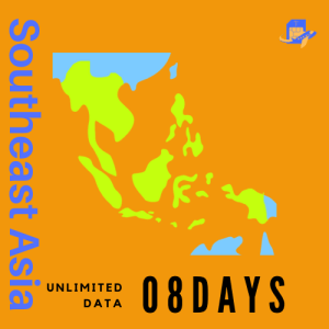 Southeast Asia & Hong Kong Travel Sim Card | 8 Days | 3GB* (Unlimited Data at 256kbps)