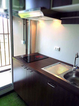 kitchen in apartment condo in phuket thailand