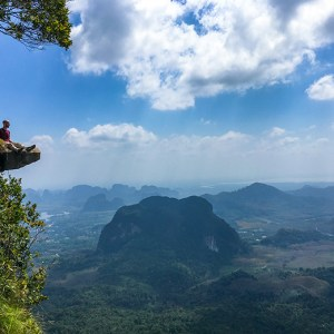 hiking khao ngon nak dragon crest mountain in krabi thailand