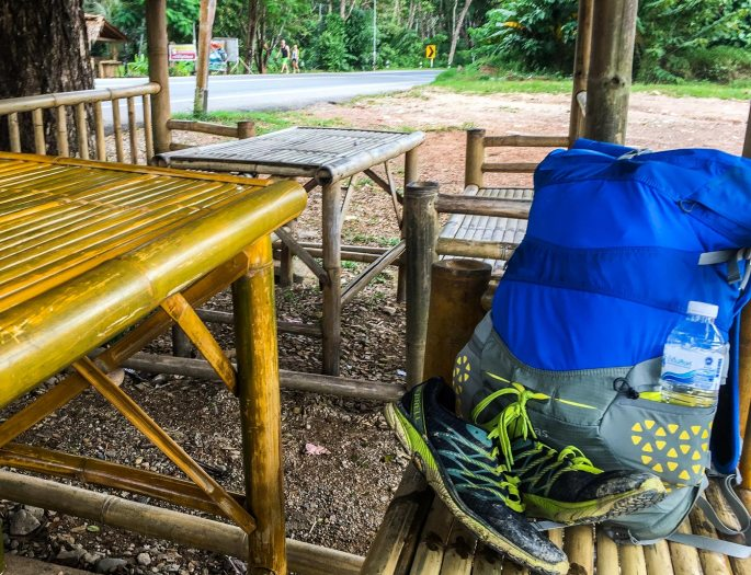 backpacking travel and packing light