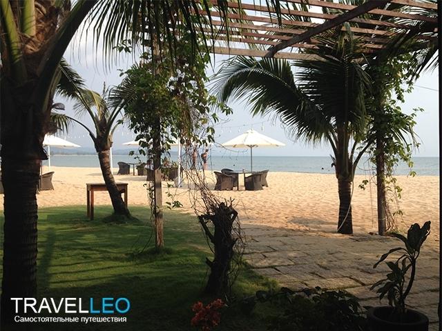 Пляж на первой линии отель Chez Carole Resort & Spa 3* остров Фукуок