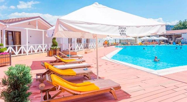 Отели в Анапе все включено с бассейном - Dacha del Sol Hotel and Resort All inclusive