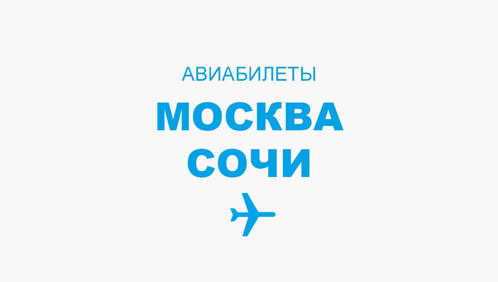 Авиабилеты Москва - Сочи прямой рейс, расписание и цена