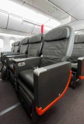 The middle seat: Jetstar business class.