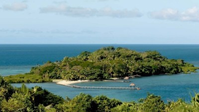Private paradise: Dolphin Island accommodates only six people.