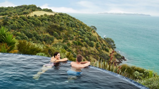 Waiheke Island is just a short ferry ride from Auckland, the biggest city in New Zealand.